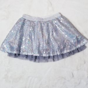 Justice Gray & Holo Sequined Skort Size 8